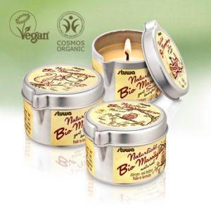 Naturlicht BIO Massagkerzen Vegan / BDIH Cosmos Organic